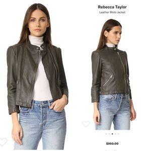 Leather Moto Jacket Size 6